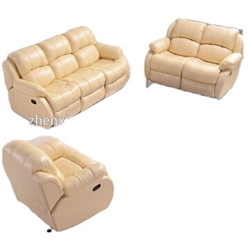 Living room furniture Contemporary Genuine leather recliner Motion Sofa