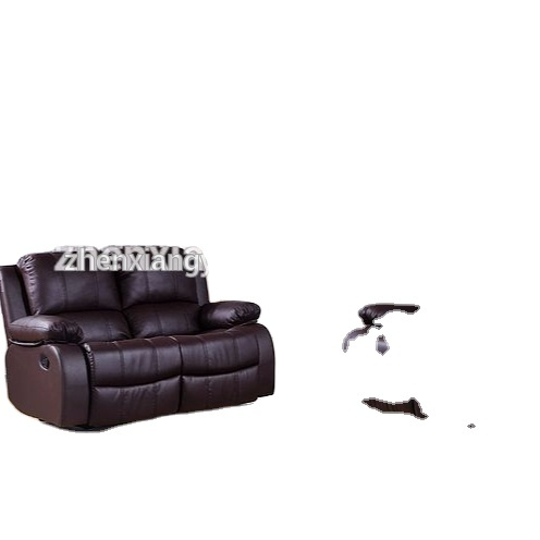 2021 Brown Leather Recliner Reclining Sofa sets for living room