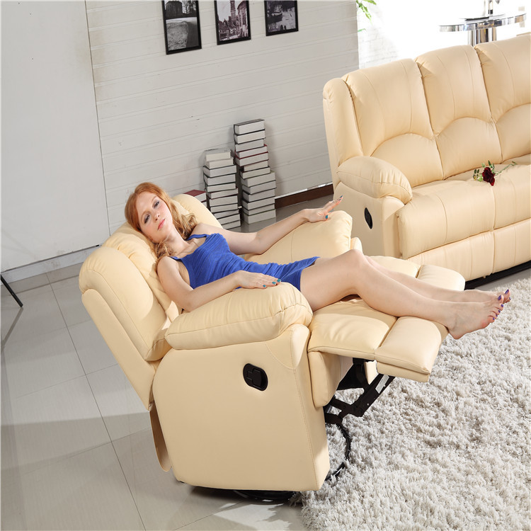 Living Room Sofa Specific Use and Home Furniture General Use COW LEATHER sofa set