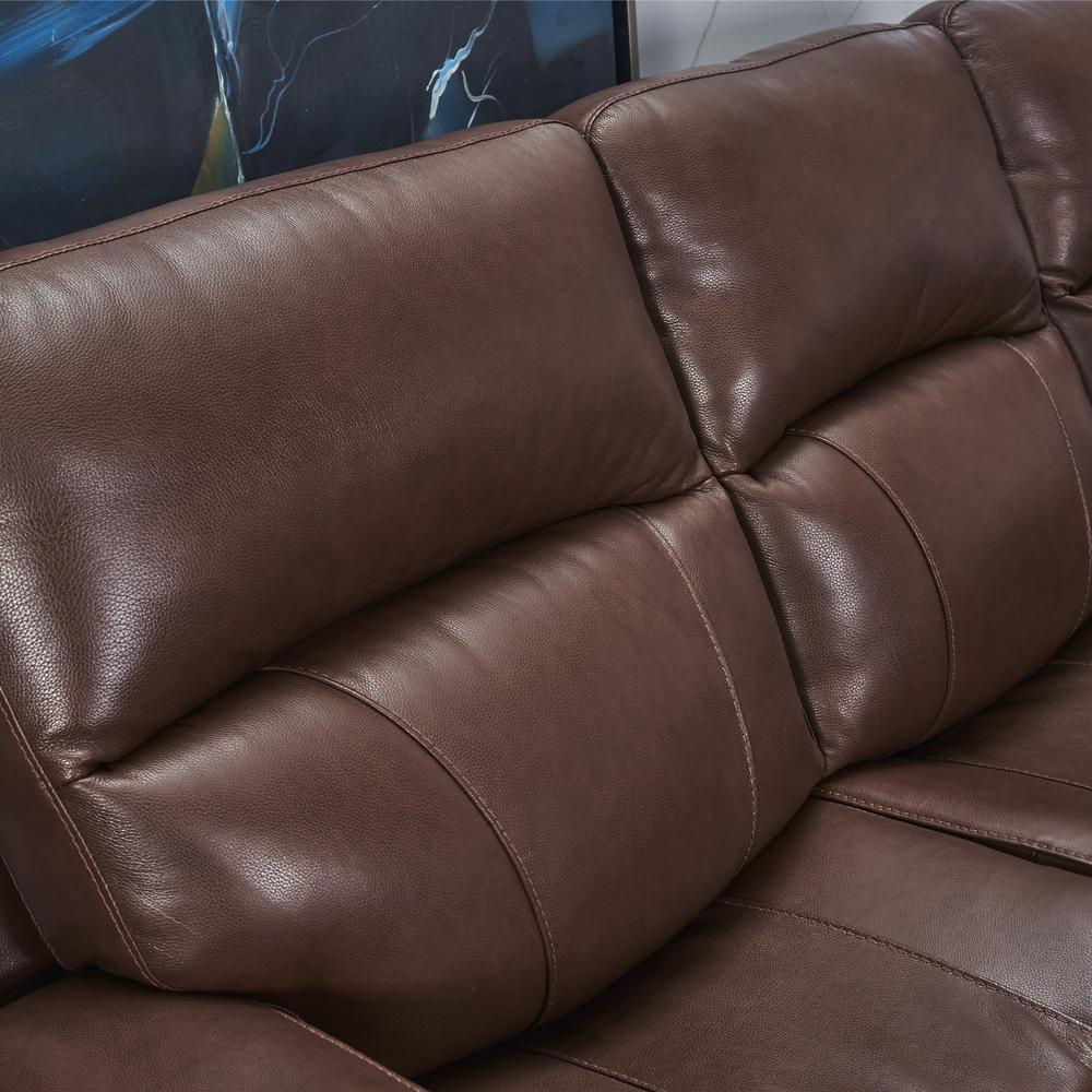 Modern Top Grain Leather genuine leather furniture elegant recliner sofa set