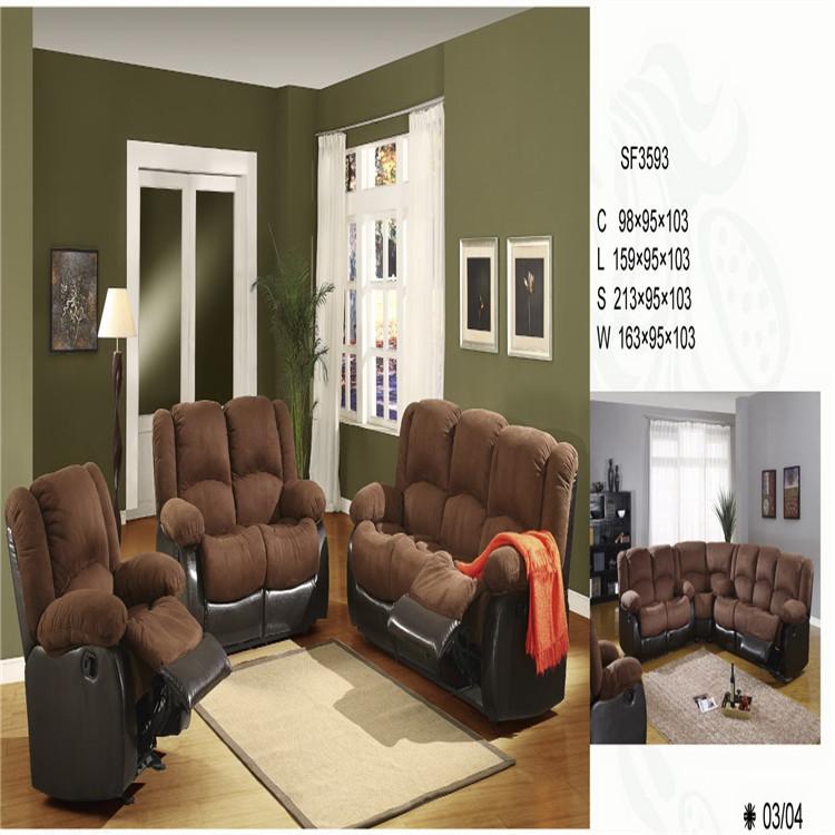 Modern fabric recliner sofa for living room