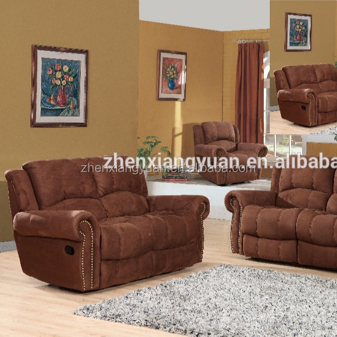 2020 Living room sofas leather reclining sofa sets bonded leather