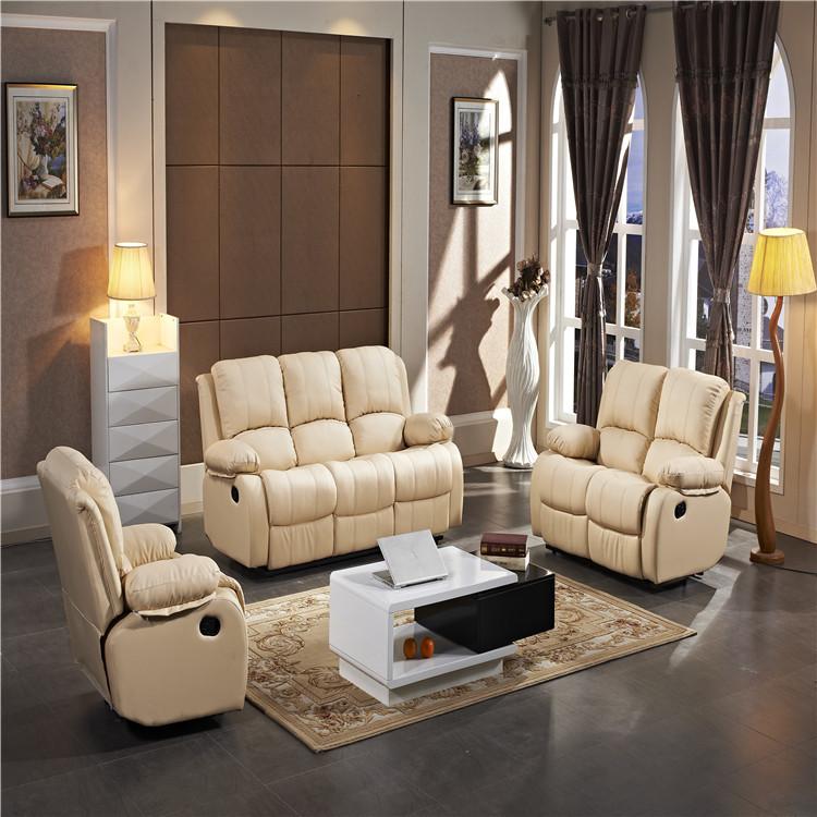 Modern living room furniture recliner sofa set