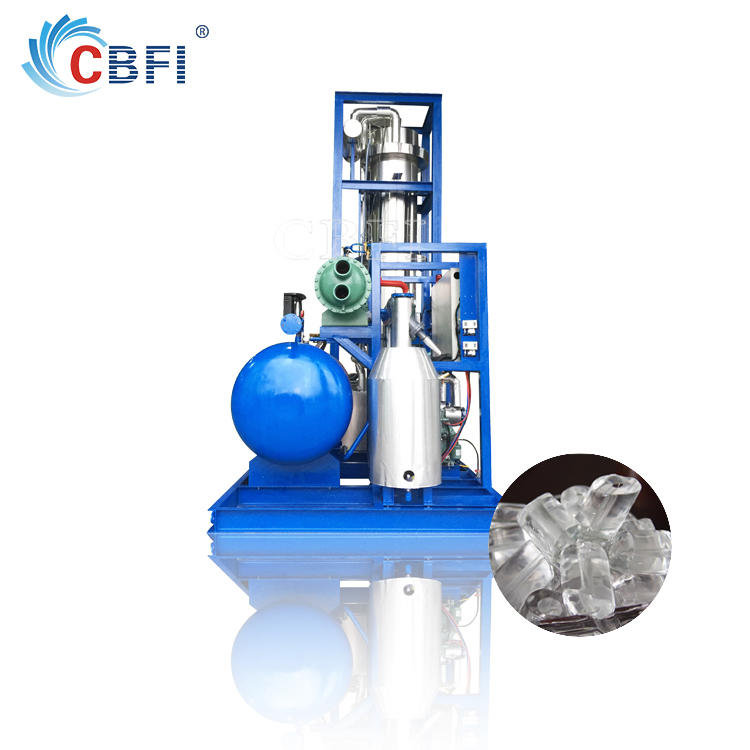 CE approved used bitzer compressor tube ice maker for coffee shop