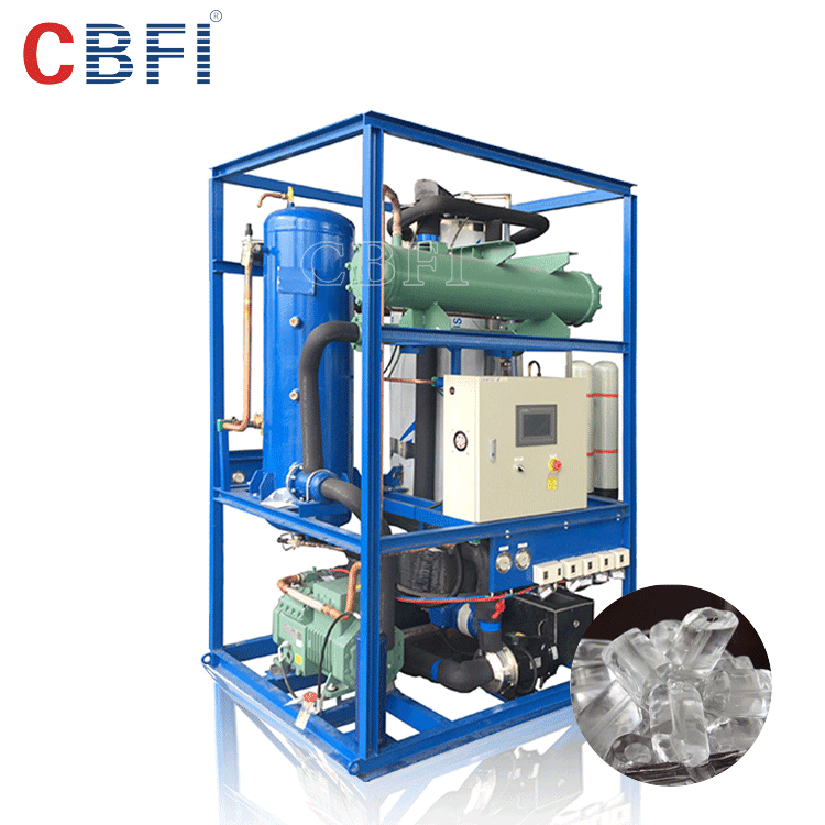 CBFI widely using industrial tube ice machine TV30 for hotel 3 tons daily capacity