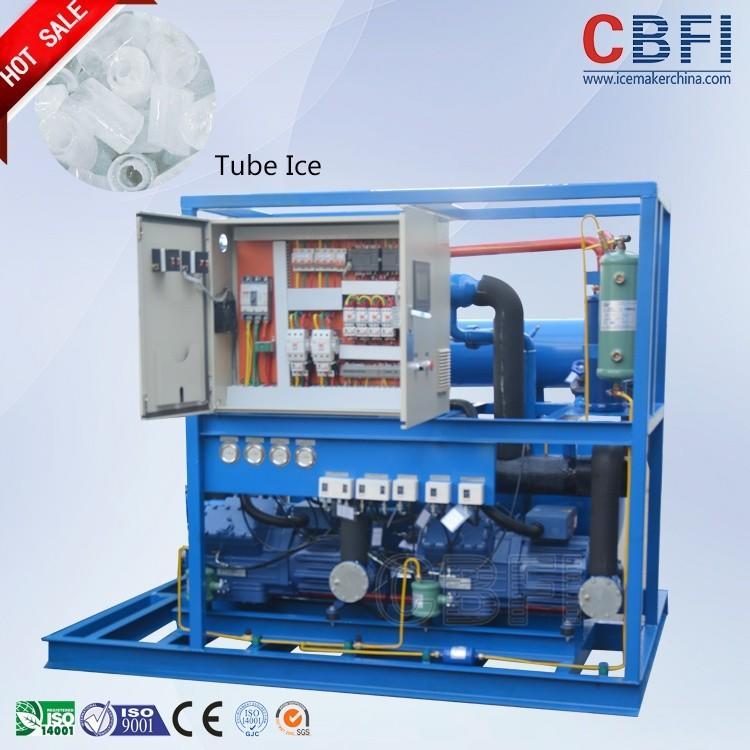 10 ton per day tube ice machine TV100 CBFI for drinking shops bars hotel used