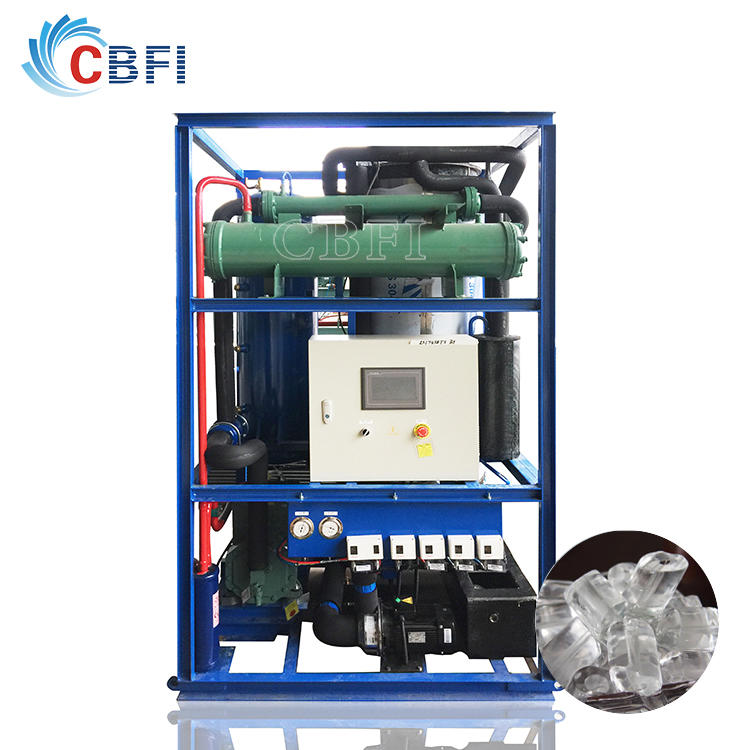 SGS passed tube ice maker TV30 with PLC controller for water drinking