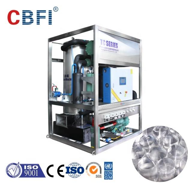 CE approved CBFI Solid Full Cylinders Tube Ice Machines