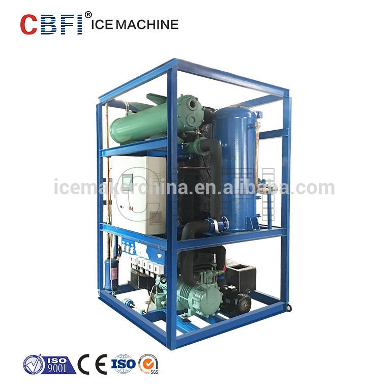 Large capacity 5 tons/24 hours automatic ice tube machine/maker for hotel/party/restaurant with Germany compressor
