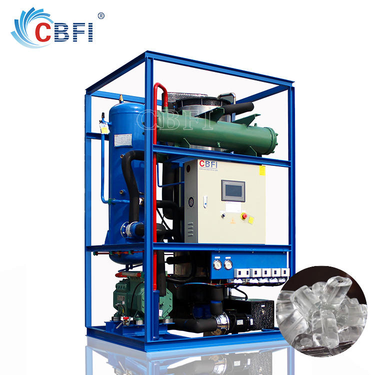 5 tons Newest Design Freon Ice Tube Machines Price for Cold Drinks