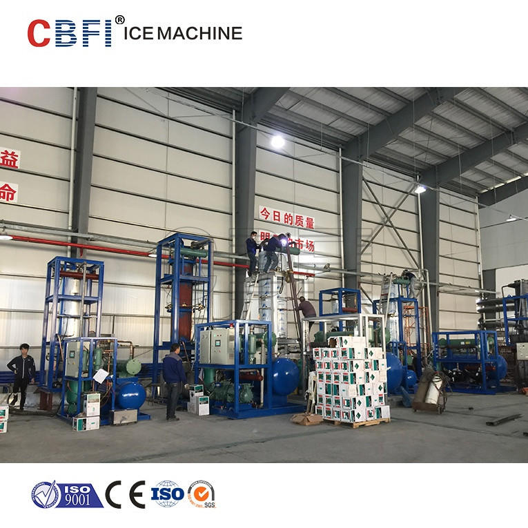 Tube ice machine industrial scale with ice pop filling sealing machine