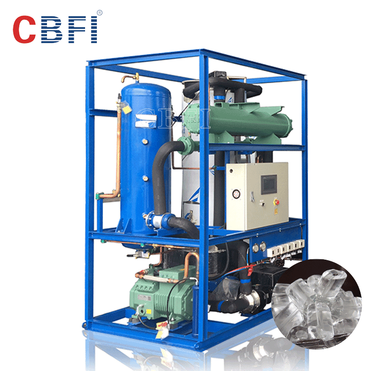 3000kg tube ice plant design with BOCK compressor
