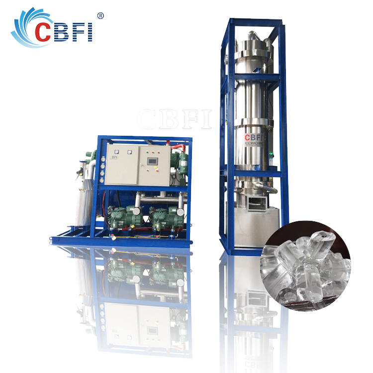 20 tons Freon industrial tube ice machine for Drinks