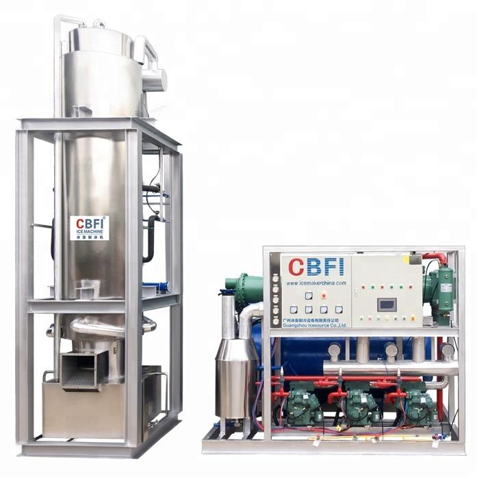 30 tons Freon system ice tube machine popular ice crystal with water filter