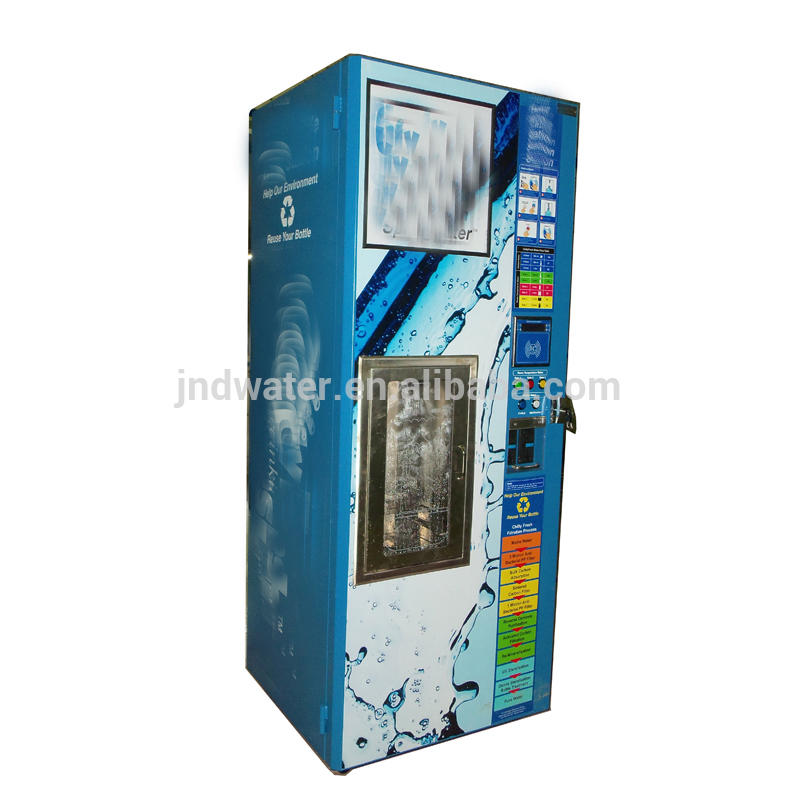Refilling 5 gallon bottle drinking water vending equipment