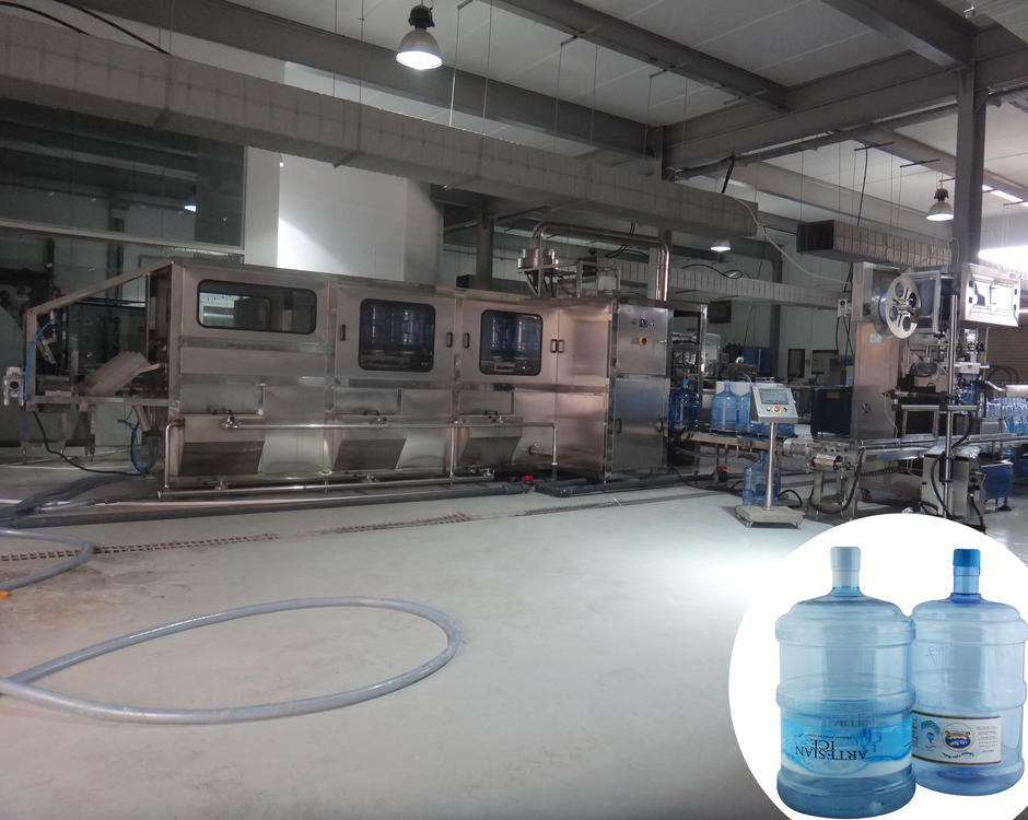 Complete 5 gallon water bottling production line turnkey project