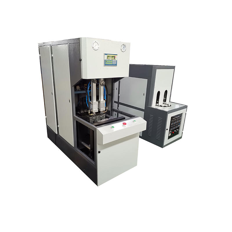 0.1L-0.5L semi auto rotary plastic pe pet bottle injection stretch blow molding machine