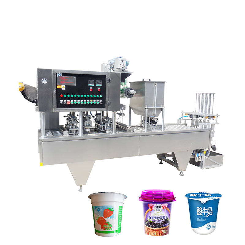 automatic 2000-6000 (cups/H) plastic cup juice filling and sealing machine