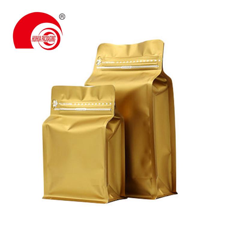 product-Huihua-Food Grade Laminated Heat Sealing Aluminum Flat Bottom Pouch Ziplock Packaging Bag-im