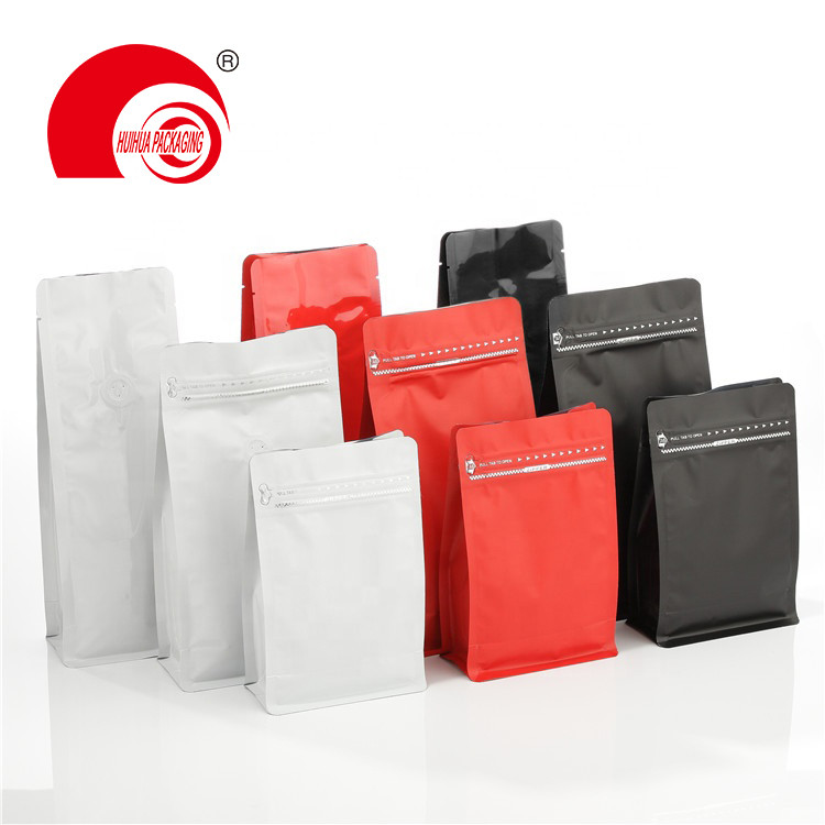 Laminated AL Aluminum Various Color Matte Square Bottom Pouch with Resealable Ziplock