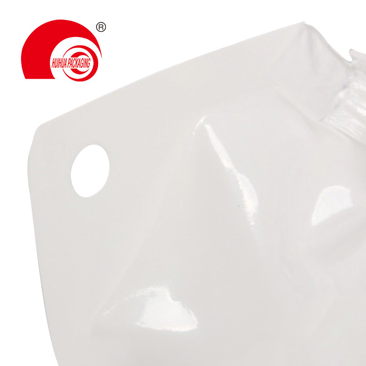 product-Huihua-Hot Selling Aluminum Foil Vacuum White Spout Pouch Liquid Packaging Bag with Corner N