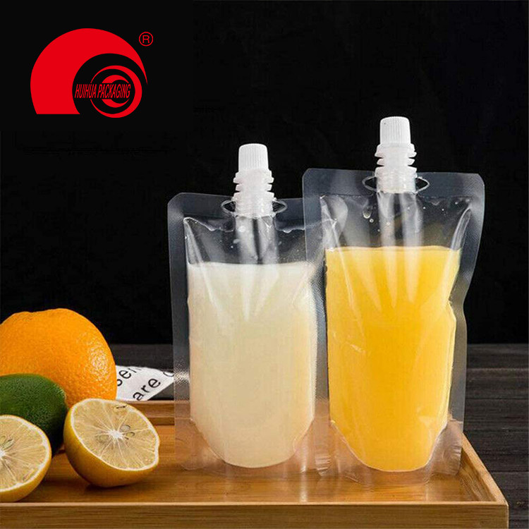 100ml 200ml 300ml Free Sample Generic Transparent Spout Pouch Drinking Packaging Bag