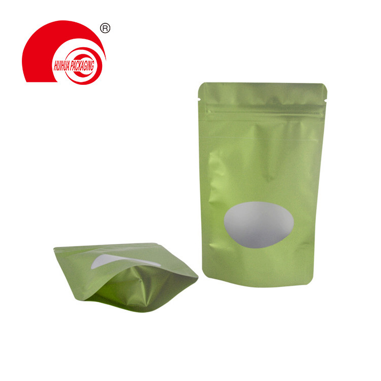 Hot Sale Oval Window Resealable Barrier Pet Food Stand Up Bag with Zip Lock