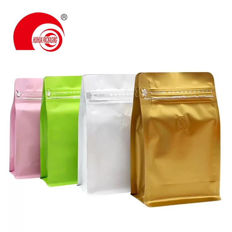 Food Grade Laminated Heat Sealing Aluminum Flat Bottom Pouch Ziplock Packaging Bag