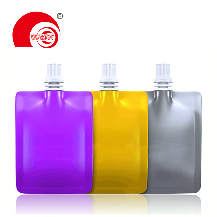 Various Colors Food Grade Energy Drinking Spout Pouch with Middle Nozzle for Daily Chemicals