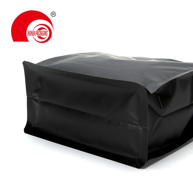product-High Quality Matte Black Aluminum Foil Laminated Plastic Bag Flat Bottom Pouch-Huihua-img-1