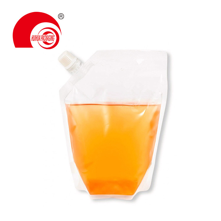 High Quality Reusable Juice Packaging Bag Clear Spout Pouch for Water Liquid Storage