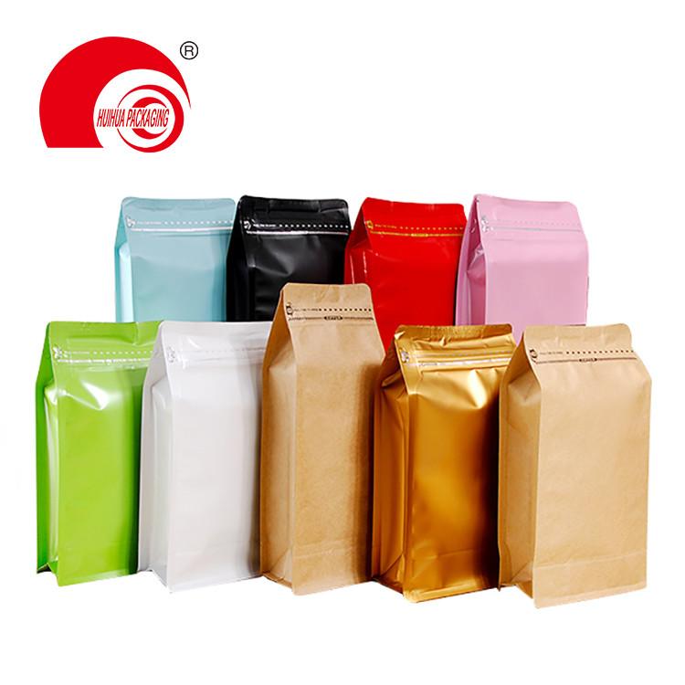 product-Food Grade Aluminum Foil Laminated Plastic Flat Bottom Packaging Bag Dry Fruit Box Bottom Po-1