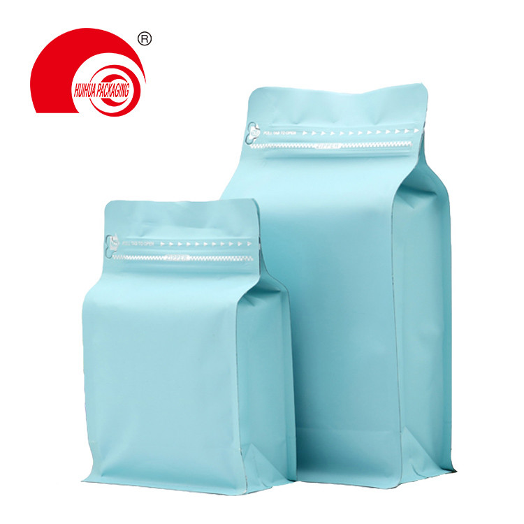 product-Food Grade Laminated Heat Sealing Aluminum Flat Bottom Pouch Ziplock Packaging Bag-Huihua-im-1