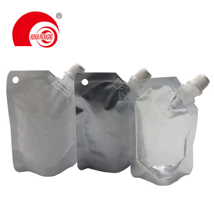 Aluminum Foil High Barrier Vacuum Plastic Bag Spout Pouch for Household Chemical Packaging