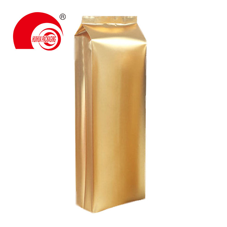product-Hot Selling Glossy Gold Quad Seal Side Gusset Pouch Laminated Plastic Bag for Dry Fruit Stor-1