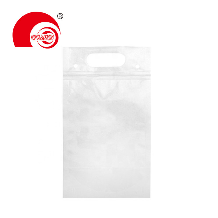 product-Huihua-Hot Sell High Quality Clear Stand Up Pouch Laminated Plastic Bag with Handle for Liqu
