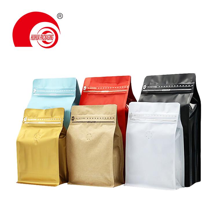 Food Grade High Barrier Packaging Bag Dry Fruit Zip Lock Flat Box Bottom Pouch