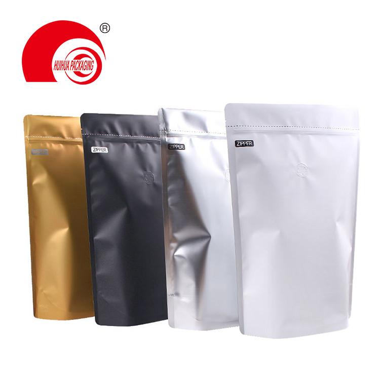 50g 1/4LBS 1/2 LBS 1LBS 2LBS Food Grade Laminated Aluminum Foil Coffee Packaging Bag Ziplock Doypack