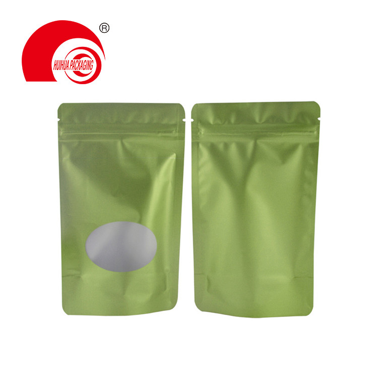 product-Huihua-Hot Sale Oval Window Resealable Barrier Pet Food Stand Up Bag with Zip Lock-img