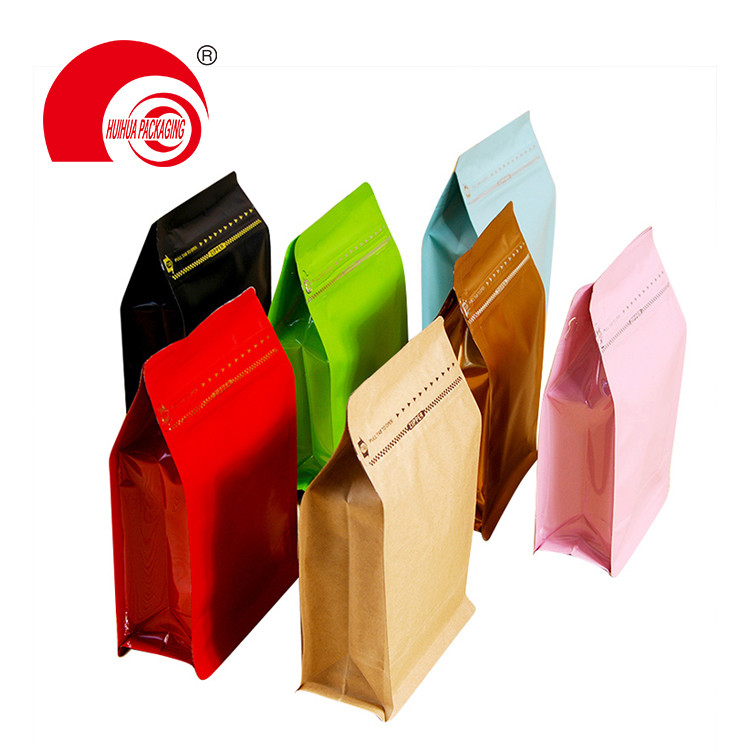product-Huihua-Food Grade Aluminum Foil Laminated Plastic Flat Bottom Packaging Bag Dry Fruit Box Bo