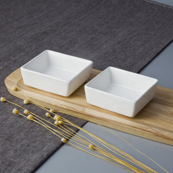 Wholesale Dinnerware Ceramic Square Serving Buffet Sauce Dish, Restaurant Hotel Supplies Soy Sauce Dish^