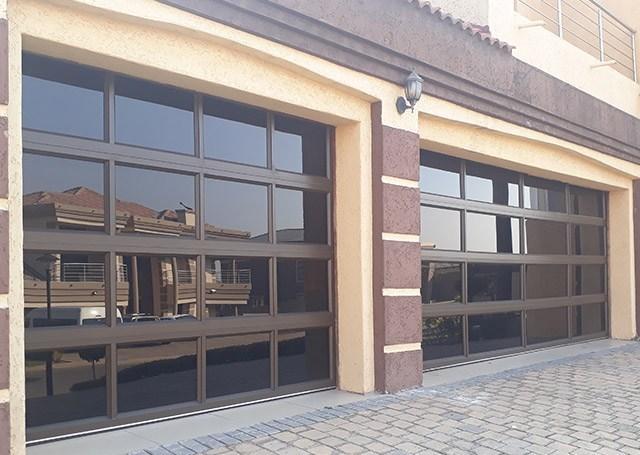 8x7 Glass Aluminum Garage Door Overhead Lifting Transparent Glass Panel Garage Door For House