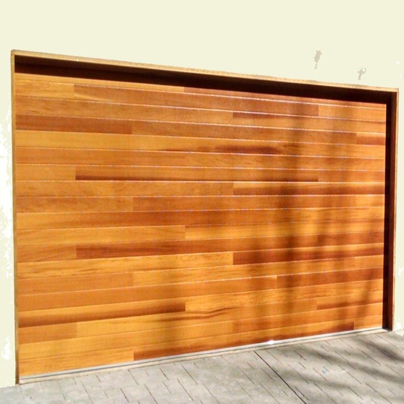 Wood Grain Automatic Thermal Insulation High Performance Aluminum Garage Door