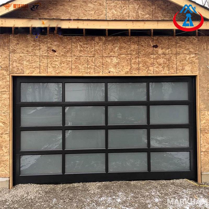 8*7 Aluminum Roller up Modern Garage Glass Door For Residential