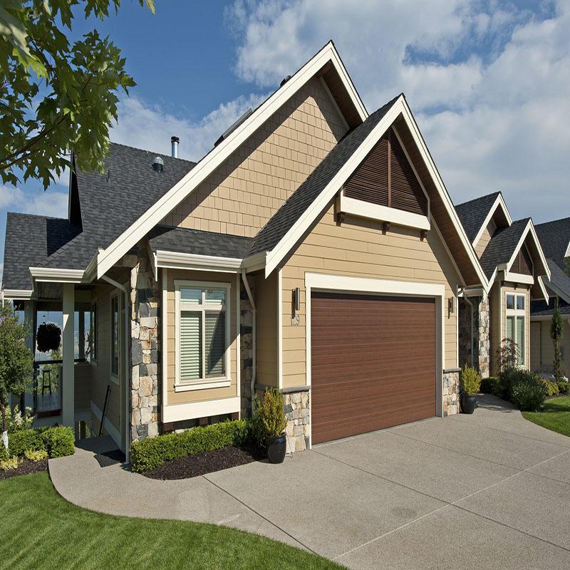 Wood Grain Color Vertical Sound Insulation Therml Insulation Aluminum Garage Door