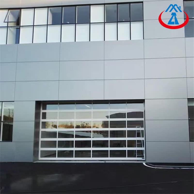 China Manufacturer 9*7 Aluminum Garage Door with Glass Free Mask