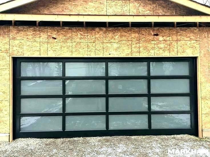 16x8 Aluminum Tempered Glass Garage Door for House
