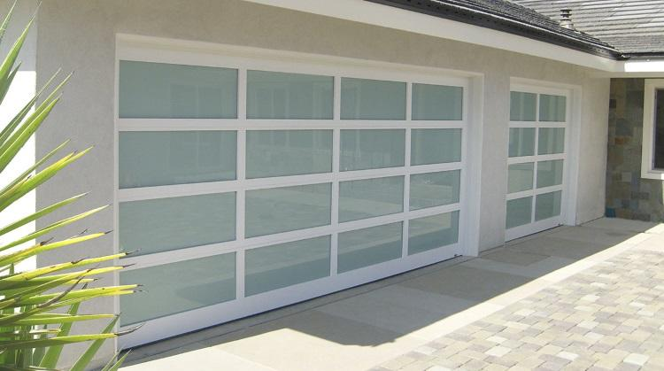 High Quality Aluminum 8x7 Folding Used Residential Exterior Glass Panel Garage Door