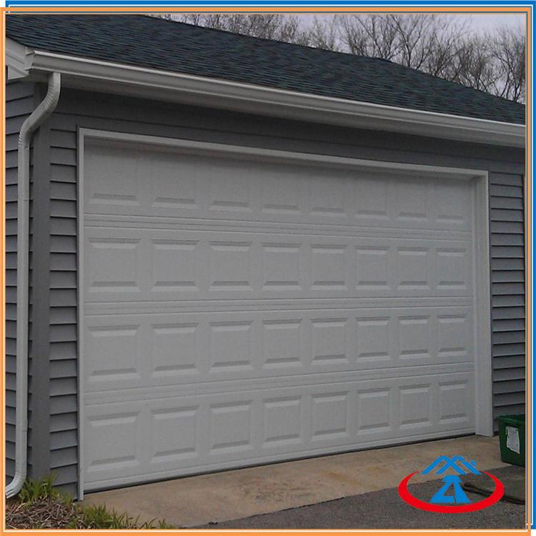 9' W*7' H Thermal Insulation Vertical ElectricGalvanized steel Garage Overhead Sectional Door With Motor