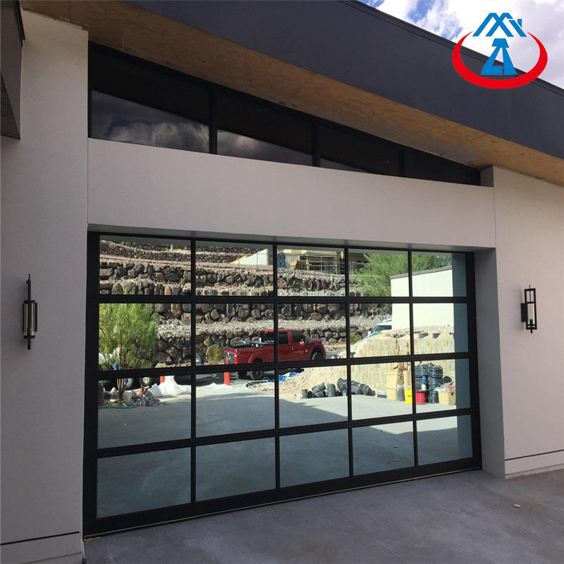 Modern Aluminum Frame Glass Panel Garage Door used Commercial/Home